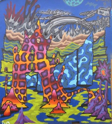 colourful mural