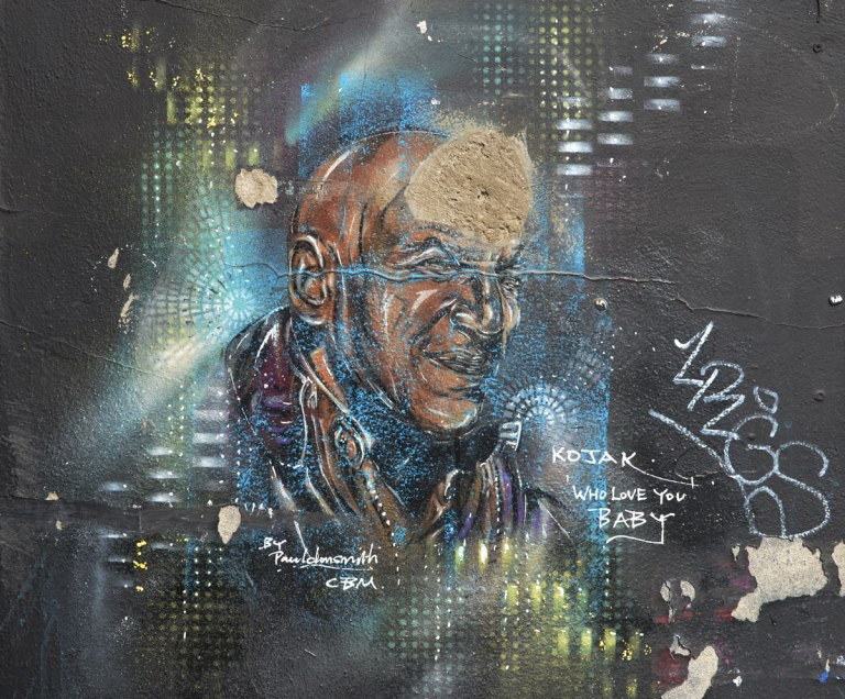 Kojak portrait, from the TV series, by Paul Don Smith