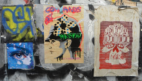 five graffiti pieces,