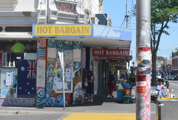 hot bargain store on Woodstock st., with its painted corner