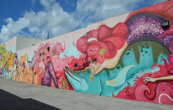 part of a larger mural by Tati Suarez, @tatunga, of mermaids -