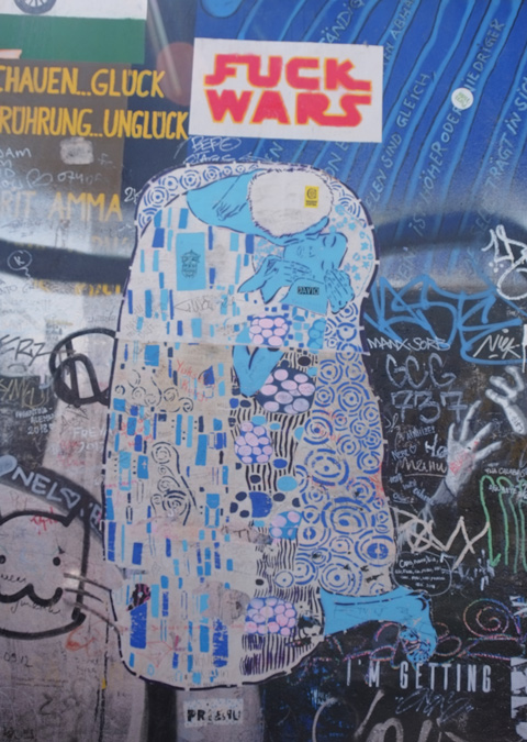 part of a mural on Berlin Wall, Eastside gallery