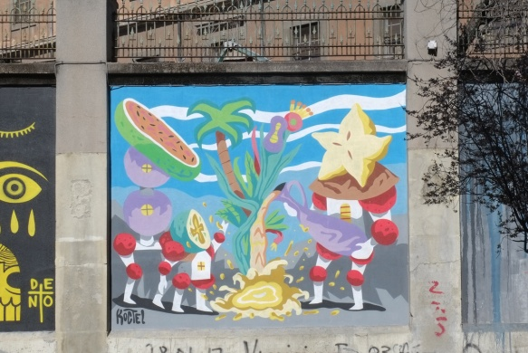 mural with fruit