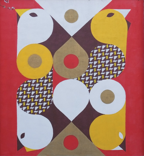 abstract tessalated birds