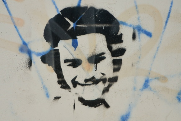 black stencil, che