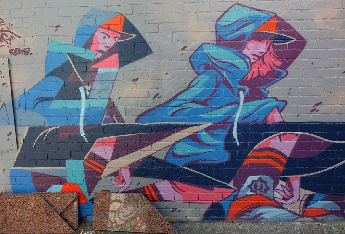 mural of two women