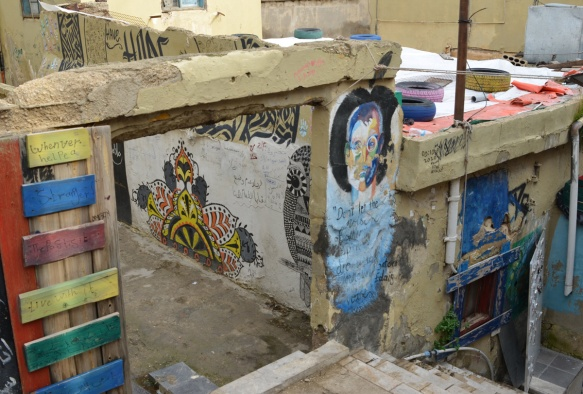 street art on Al Kahla stairs in Amman