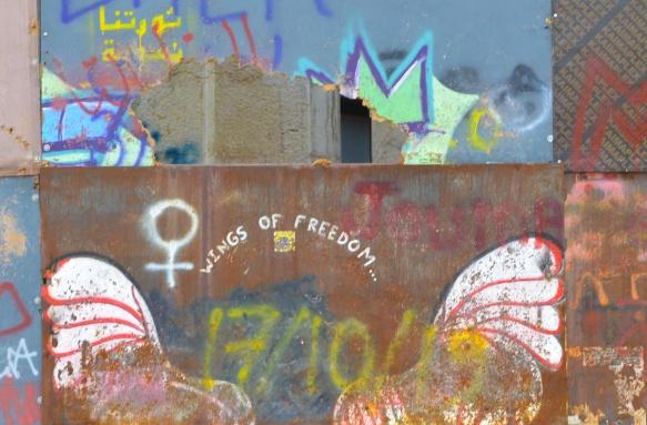 wings of freedom graffiti