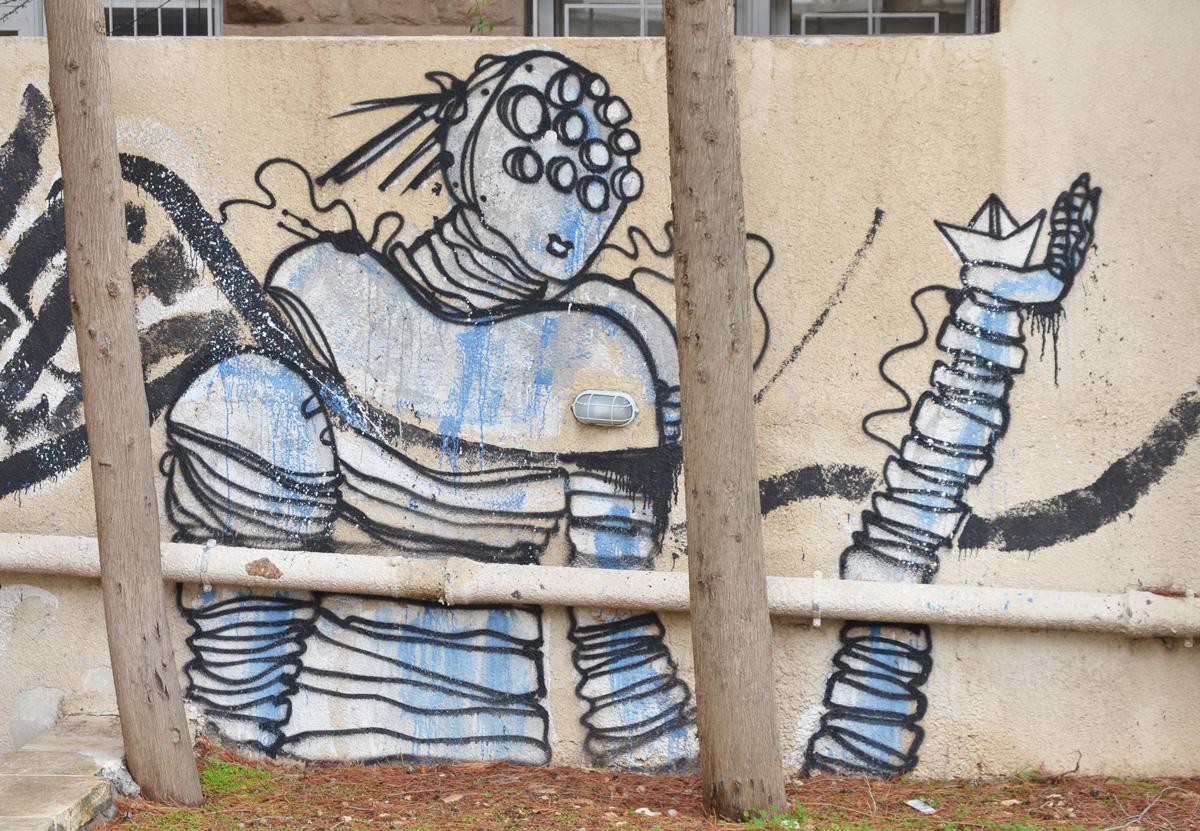 street art on a wall in Amman